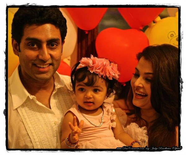 Abhishek and Aish With Their Baby