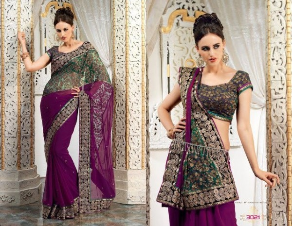 Saree In Two Styles