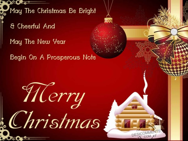 May The Christmas Be Bright  & Cheerful