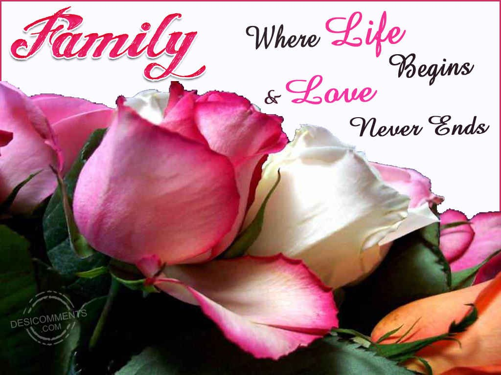 Family-Where Life Begins & Love Never Ends - DesiComments.com