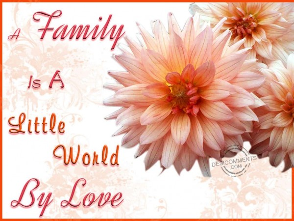 A Family Is A Little World