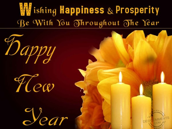 Wishing Happiness & Prosperity Be With You Throughout The Year