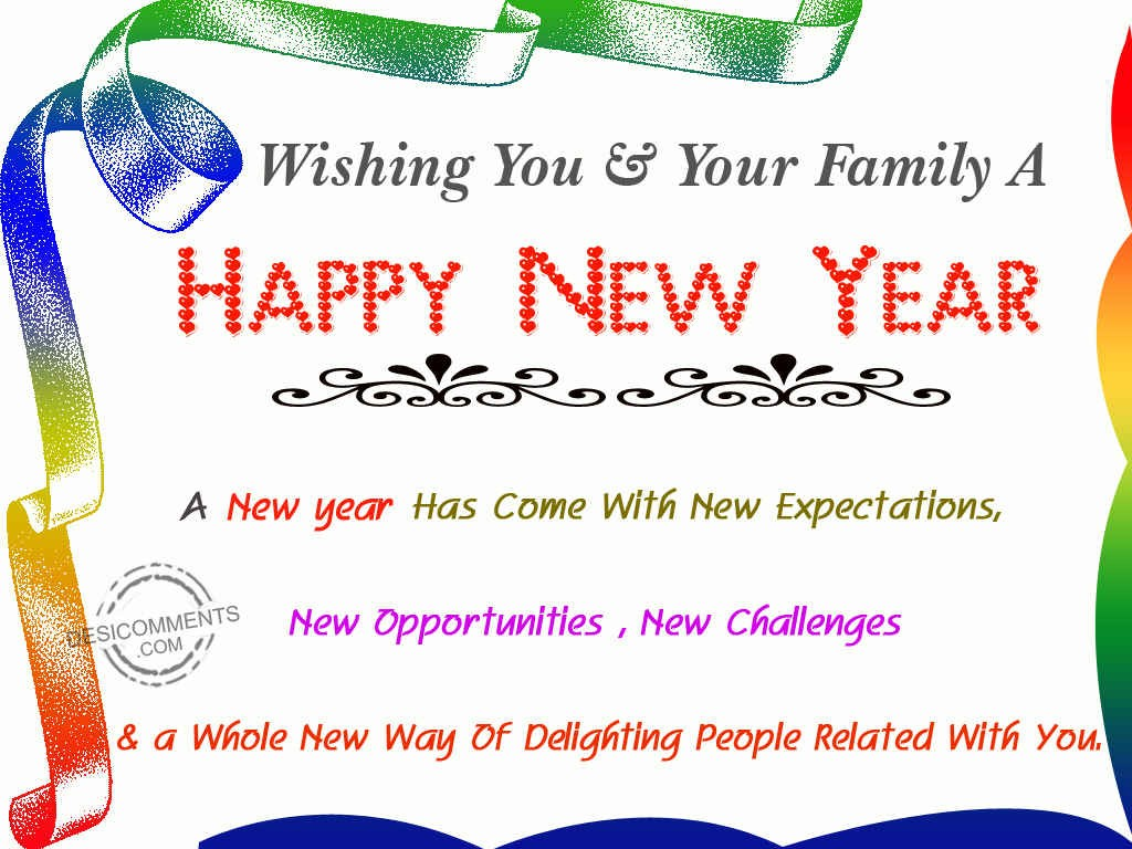 Wishing You & Your Family A Happy New Year - DesiComments.com