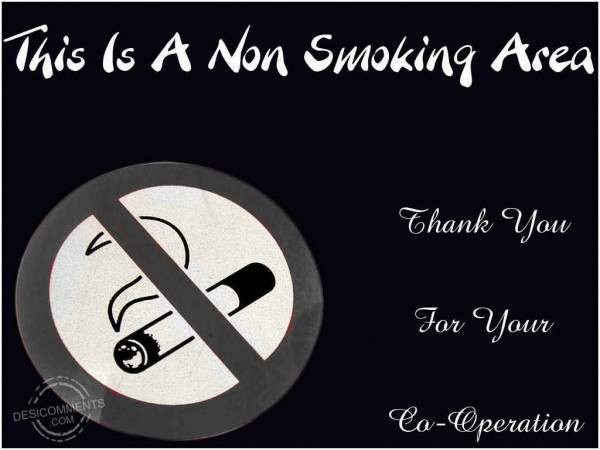 This Is A Non Smoking Area