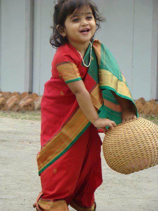 Baby Girl in Saree