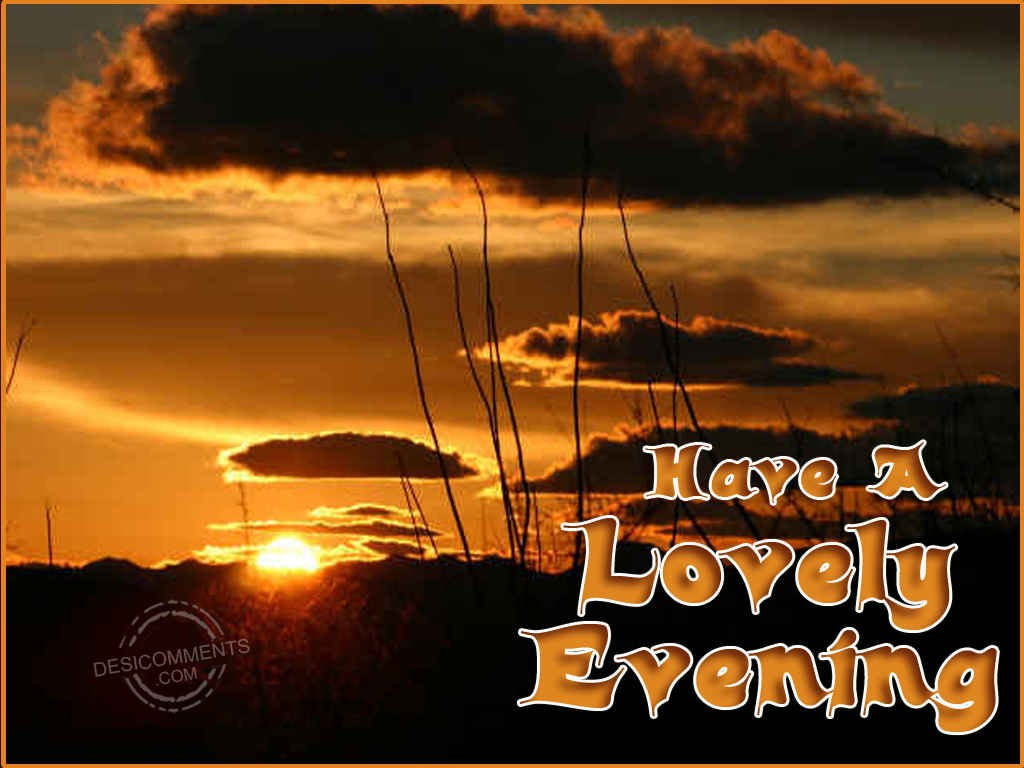 Have A Lovely Evening - DesiComments.com