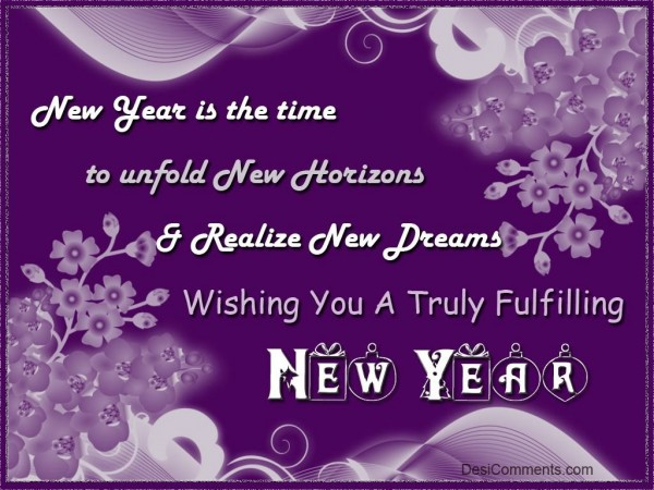 Wishing You A Truly Fulfilling New Year