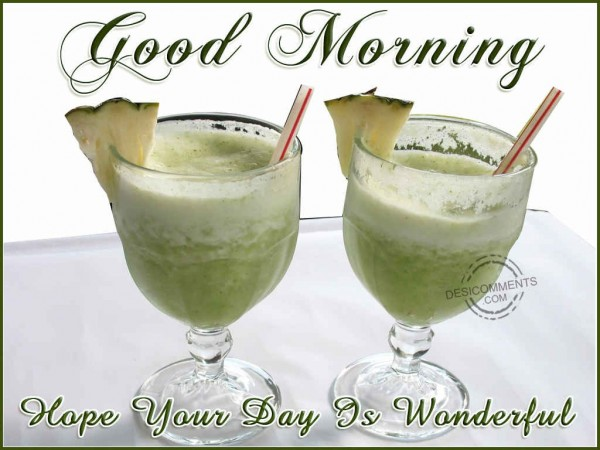 Good Morning....Hope Your Day Is Wonderful