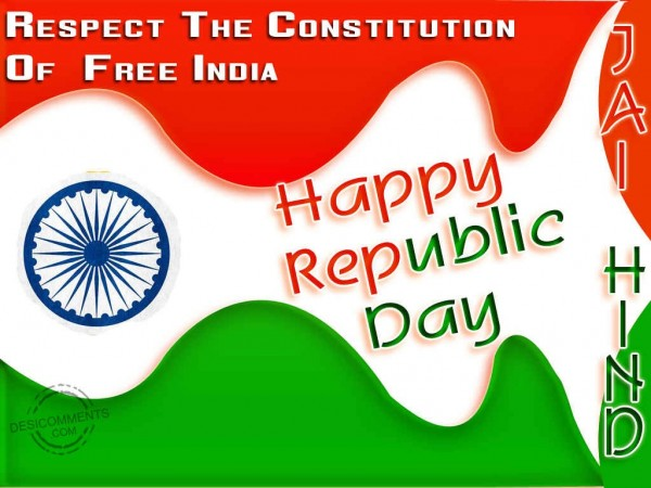 Respect The Constitution Of Free India