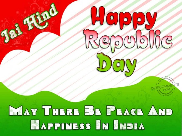 May There Be Peace And Happiness In India