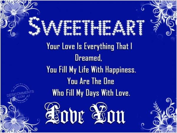 Sweetheart Love You