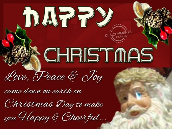 Have A Peaceful Christmas...