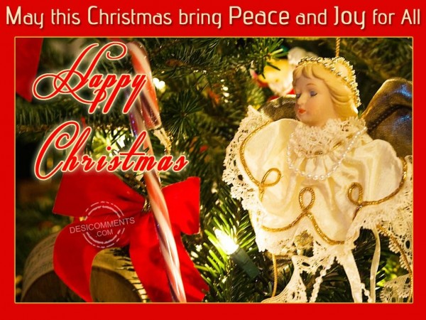 May this Christmas bring Peace and Joy for all...