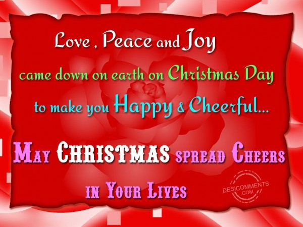 May Christmas spread cheers in your lives...