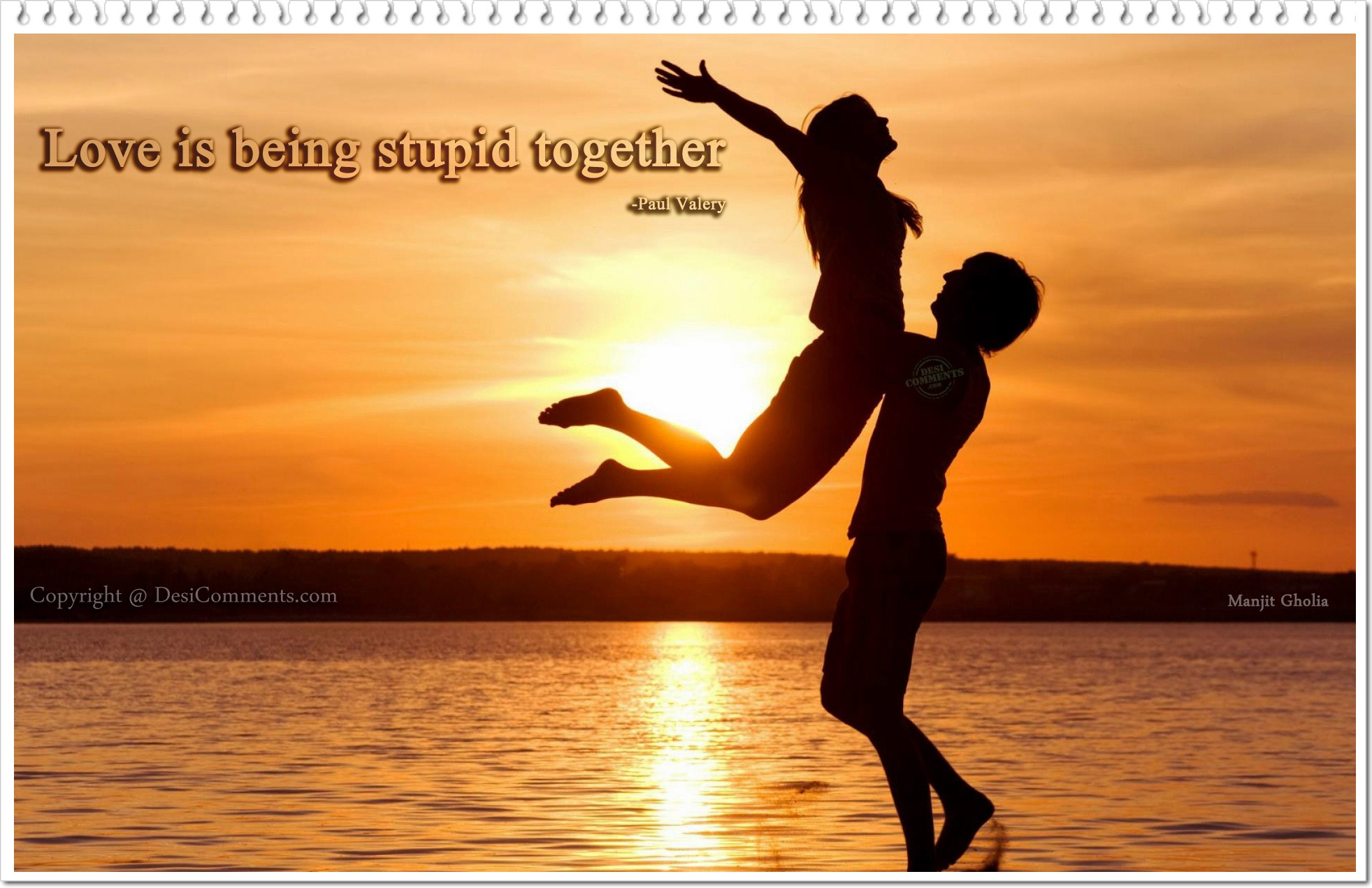 Being Together Quotes Love Is Being Stupid Together…  Desicomments