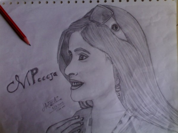 Sketch Of Miss Pooja