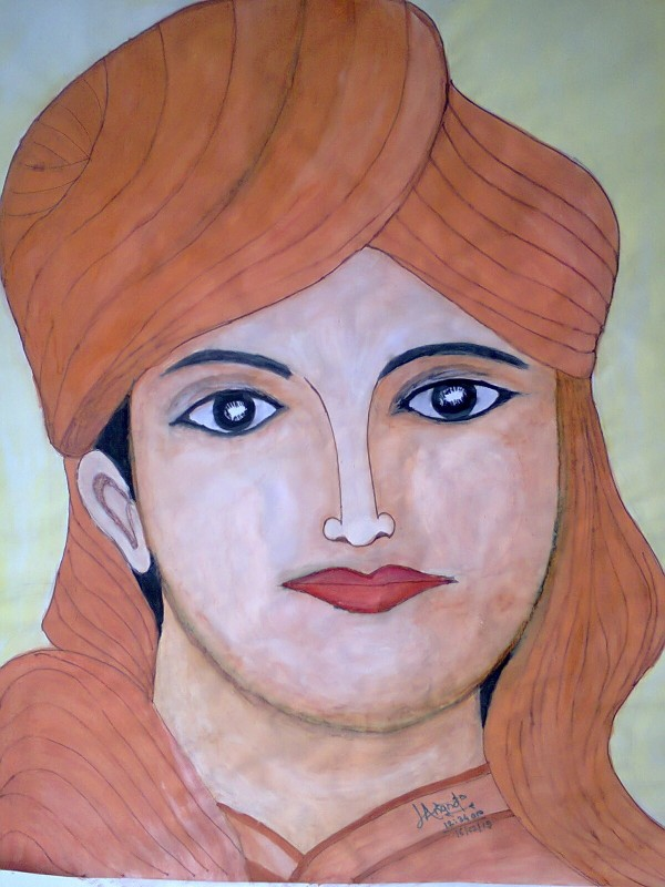 Painting Of Swami Vivekanand