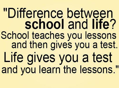 school and life