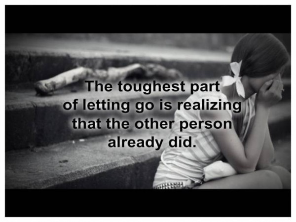 Letting Go.....