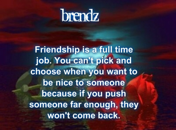 Friendship Is A Full Time Job