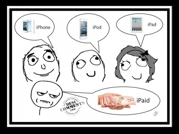 iPhone, iPod, iPad and iPaid