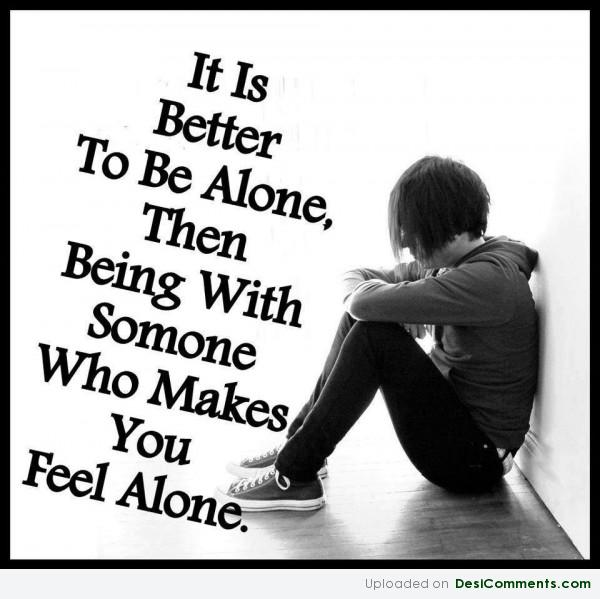 You Feel Alone