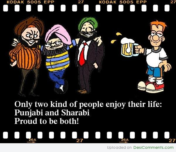Punjabi and Sharabi
