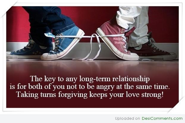 for a long term relationship