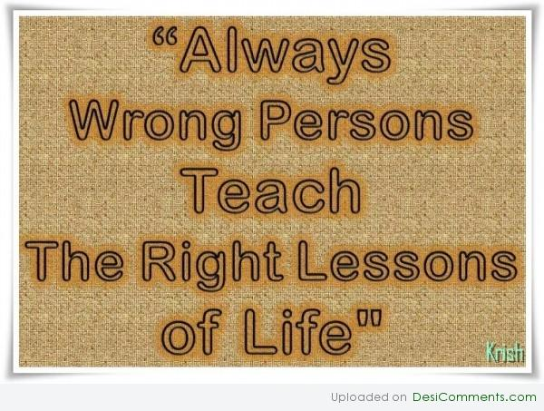 Right lessons