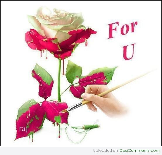 For u