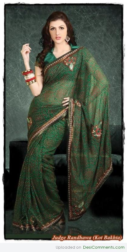 Green Saree
