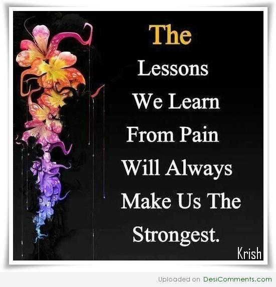 Lessons we learn