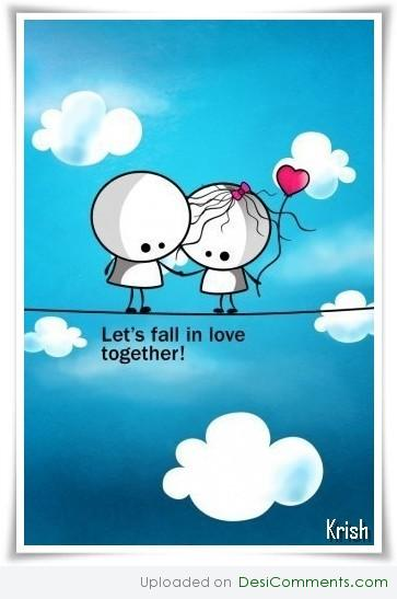 Lets fall in love together - DesiComments.com Punjabi Comment Wallpaper