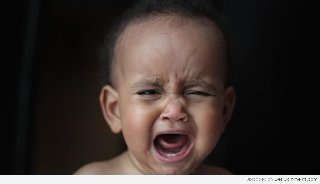 Image of black baby crying
