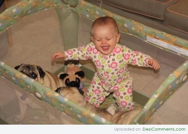 cute babies with funny dogs pics