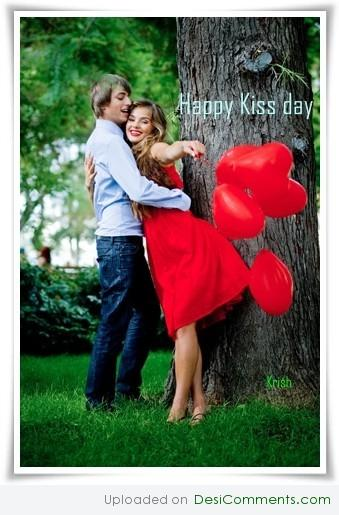 Happy kiss day