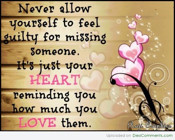 Never allow yourself