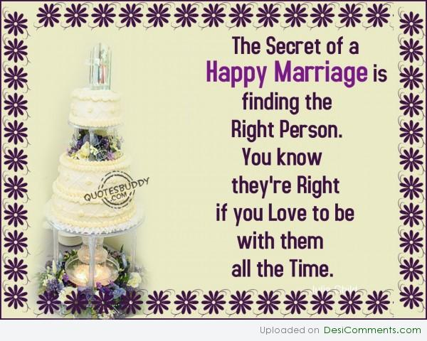 Picture: Secret Of Happy Marriage