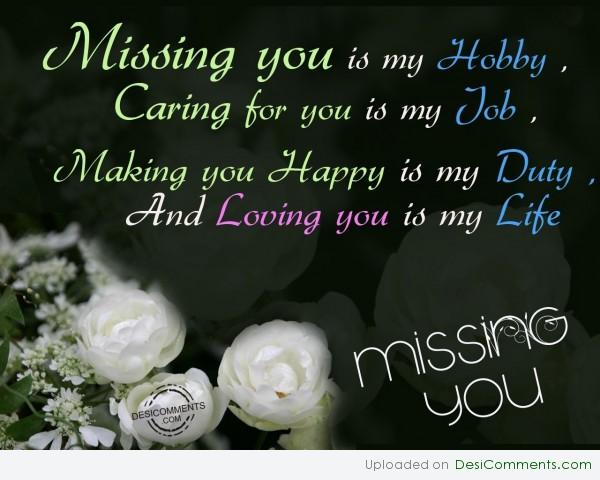 Missing You Is My Hobby