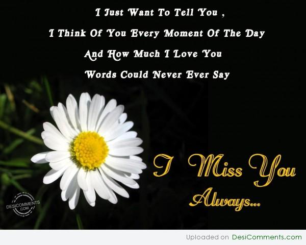 Picture: I Miss You Always