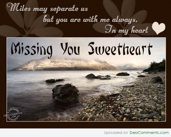 Missing You Sweetheart