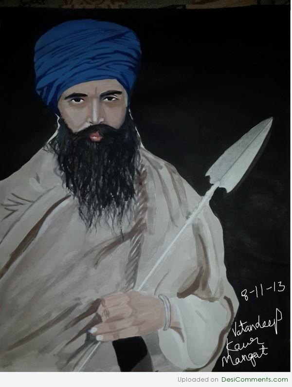 Picture: Painting of Jarnail Singh bhindrawale