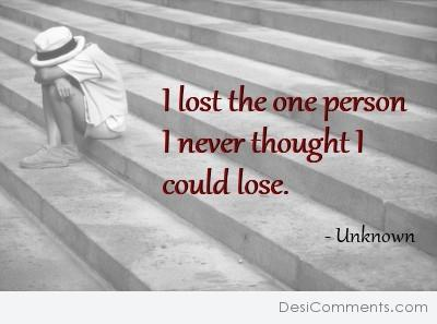 I lost the one person...