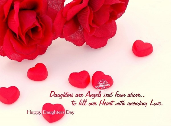 Daughters are angels sent from above