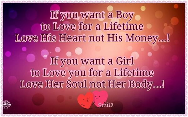 If You Want A Boy To...