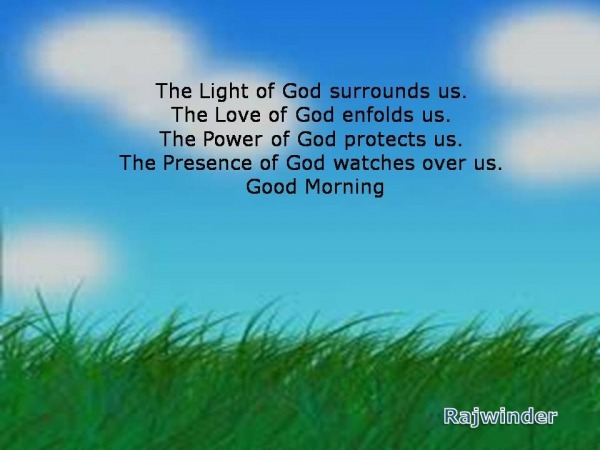The light of God surrounds us