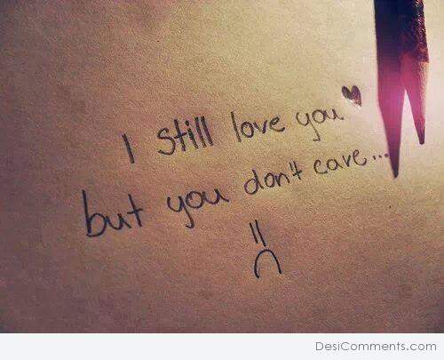 I still love you...