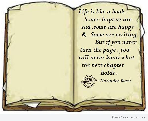 Life is like a book...