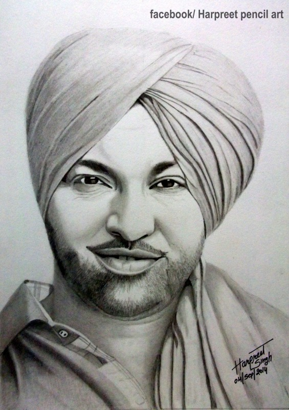 Harjit harman pencil portrait
