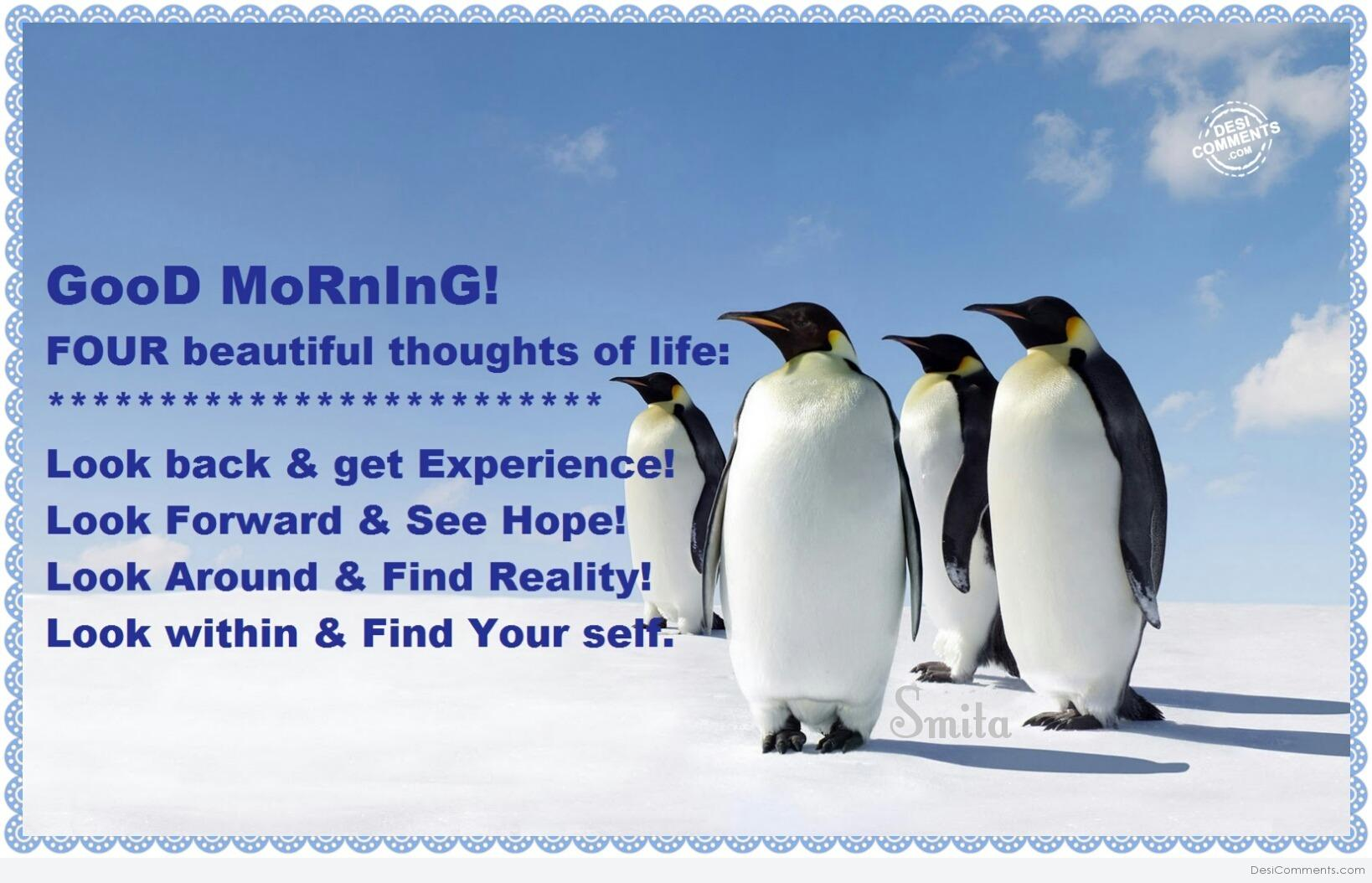 Good Morning Four Beautiful Thoughts Of Life Desicommentscom